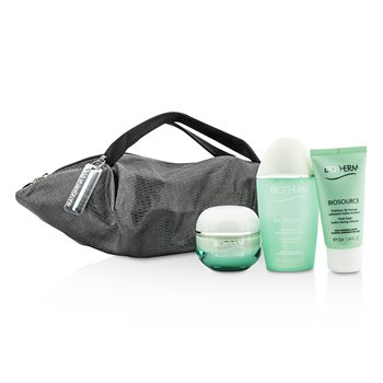 Biotherm Aquasource X Mandarina Duck Coffret: Crema N/C 50ml + Biosource Limpiador Espuma 50ml + Biosource Tónico 100ml + Bolsa  3pcs+1bag
