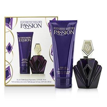 Elizabeth Taylor Passion Комплект: Тоалетна Вода Спрей 74мл + Лосион за Тяло 200мл  2pcs