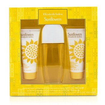 Elizabeth Arden Sunflowers Coffret: Eau De Toilette Spray 100ml/3.3oz + Loci�n Corporal 100ml/3.3oz +Limpiador Crema Hidratante 100ml/3.3oz  3pcs