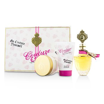 Juicy Couture Couture Couture Coffret: Eau De Parfum Spray 100ml/3.4oz + Crema Corporal 100ml/3.4oz + Gel de Ducha 125ml/4.2oz  3pcs