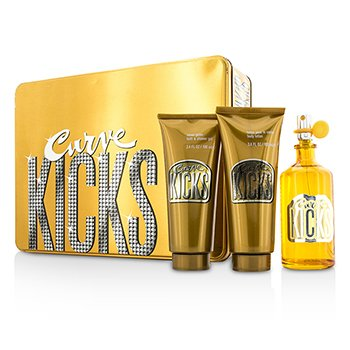 Liz Claiborne Curve Kicks Coffret: Eau De Toilette Spray 100ml/3.4oz + Loci�n Corporal 100ml/3.4oz + Gel de Ducha 100ml/  3pcs