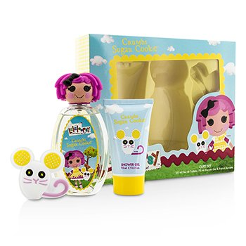 Lalaloopsy ชุด Crumbs Sugar Cookie Cute Coffret: สเปรย์น้ำหอม EDT 100ml/3.4oz + เจลอาบน้ำ Shower Gel 75ml/2.5oz + French Barrette  3pcs