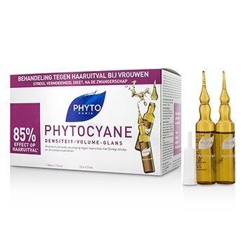Phyto Kuracja do włosów Phytocyane Growth Stimulating Anti-Thinning Hair Treatment (For Thinning Hair - Women)  12x7.5ml/0.25oz