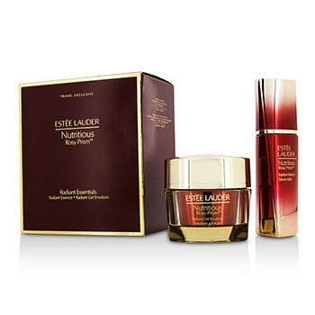 Estee Lauder Nutritious Rosy Prism Set: Radiant Essence 30ml + Radiant Gel Emulsion 50ml  2pcs