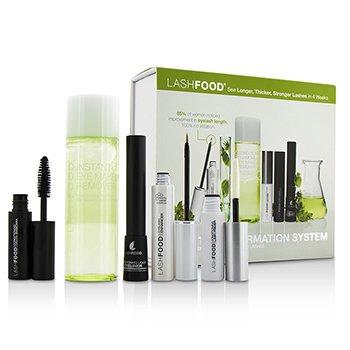 ラッシュフード LashFood Lash Transformation System: (1x Eyelash Enhancer 3ml/0.1oz, 1x Lash Primer 4ml/0.13oz, 1x Mascara 4ml/0.13oz, 1x Liquid Eyeliner 4ml/0.13oz, 1x Eye Makeup Remover 100ml/3.38oz)  5pcs