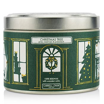 The Candle Company Tin Can Candle - Beeswax, Christmas Tree  (8x5) cm