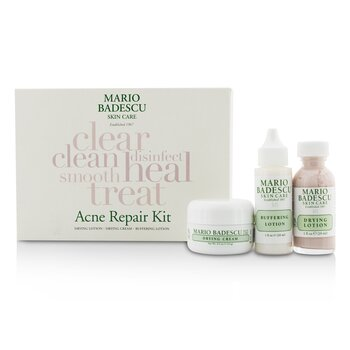 マリオ バデスク Acne Repair Kit: Drying Lotion 29ml + Drying Cream 14g + Buffering Lotion 29ml  3pcs