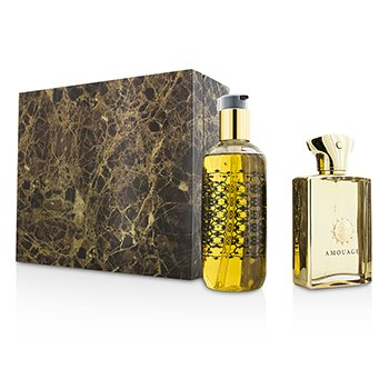 Amouage Gold Coffret: Eau De Parfum Spray 100ml/3.4oz + Gel de Ducha & Baño 300ml/10oz  2pcs
