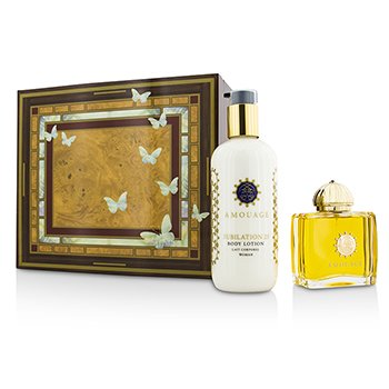 Amouage Jubilation 25 szett: Eau De Parfüm spray 100ml/3.4oz + testápoló lotion 300ml/10oz  2pcs