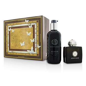 Amouage Memoir szett: Eau De Parfüm spray 100ml/3.4oz+ testápoló lotion 300ml/10oz  2pcs