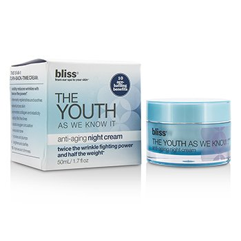 Bliss The Youth As We Know It Crema Anti Envejecimiento de Noche  (Caja Ligeramente Da�ada)  50ml/1.7oz