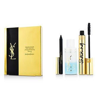 Yves Saint Laurent Mascara Volume Effet Faux Cils Shocking Set: (1x M�scara 6.4ml/0.2oz, 1x  L�piz A Prueba de Agua Ojos 0.8g/0.028oz, 1x Demaquillante Ojos 30ml/1oz)  3pcs
