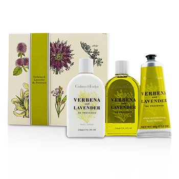 Crabtree & Evelyn Verbena & Lavender Essentials Set: Bath & Shower Gel 250ml + Body Lotion 250ml + Hand Therapy 100g  3pcs