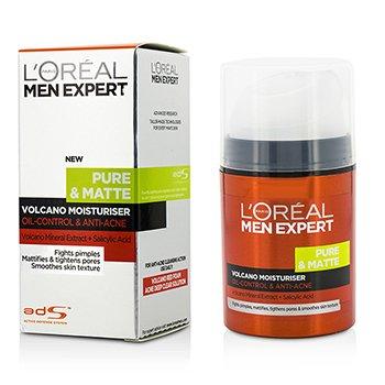 L'Oreal Men Expert Pure & Matte Volcano Moisturiser - Oil-Control & Anti-Acne  50ml/1.7oz