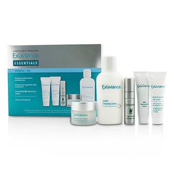 Exuviance Essentials Kit (Sensitive/ Dry): Cleansing Creme + Eye Complex + Day Creme + Restorative Creme + Antioxidant Serum  5pcs