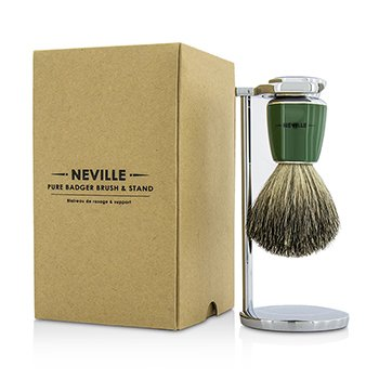 Neville Pure Badger Brush & Stand  2pcs