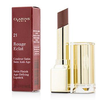 Clarins Pomadka do ust Rouge Eclat Satin Finish Age Defying Lipstick - # 21 Tawny Rose  3g/0.1oz