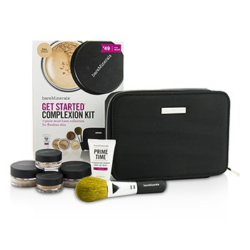ベアミネラル BareMinerals Get Started Complexion Kit For Flawless Skin - # Medium (Box Slightly Damaged)  6pcs+1clutch
