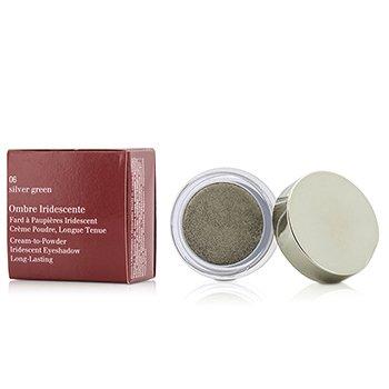 Clarins Ombre Iridescente Cream To Powder Iridescent Eyeshadow - #06 Sliver Green  7g/0.2oz