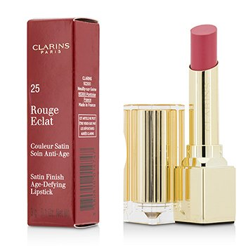 Clarins Pomadka do ust Rouge Eclat Satin Finish Age Defying Lipstick - # 25 Pink Blossom  3g/0.1oz