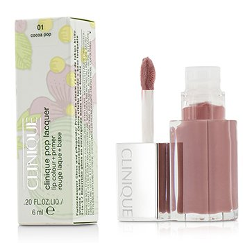 Clinique Pop Lacquer Lip Colour + Primer  - # 01 Cocoa Pop  6ml/0.2oz