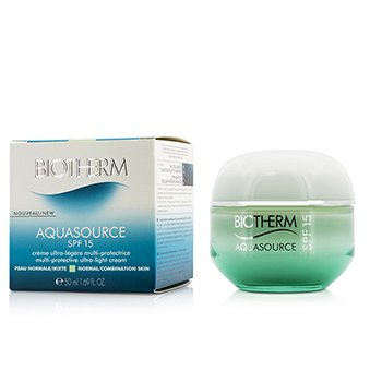 Biotherm Aquasource Multi-Protective Ultra-Light Cream SPF 15 - for normal/kombinert hud  50ml/1.69oz