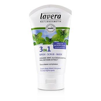 Lavera Organic Mint 3 In 1 Wash, Scrub, Mask  125ml/4.1oz