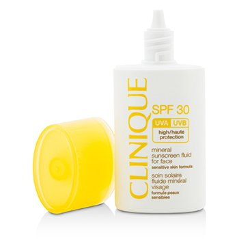 Clinique Mineral Sunscreen Fluid For Face SPF 30 - Sensitive Skin Formula  30ml/1oz