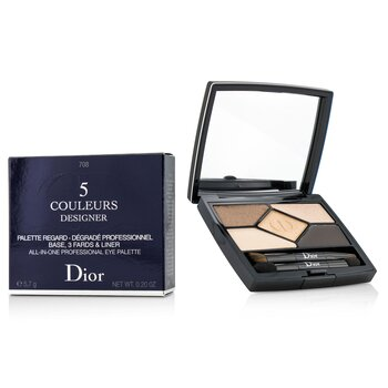 คริสเตียน ดิออร์ 5 Color Designer All In One Professional Eye Palette - No. 708 Amber Design  5.7g/0.2oz