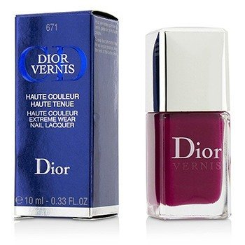 Christian Dior Dior Vernis Haute Couleur Extreme Wear Nail Lacquer - # 671 Graphic Berry  10ml/0.33oz