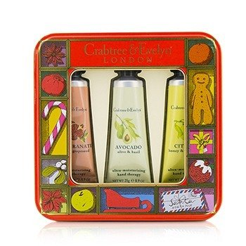 クラブツリー&イヴリン Fruit And Botanicals Hand Therapy Tin Set  3x25g/0.9oz