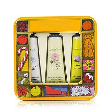クラブツリー&イヴリン Countryside Florals Hand Therapy Tin Set  3x25g/0.9oz