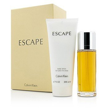 Calvin Klein Escape Coffret: Eau De Parfum Spray 100ml/3.4oz + Loción Corporal 200ml/6.7oz  2pcs