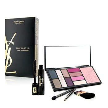 Yves Saint Laurent Devoted To YSL (Parisienne Palette): (5x Powder Eye Shadow, 1x Powder Blusher, 4x Solid Lipcolour, 1x Mini Mascara, 3x Mini Applicator, 1x Pouch)