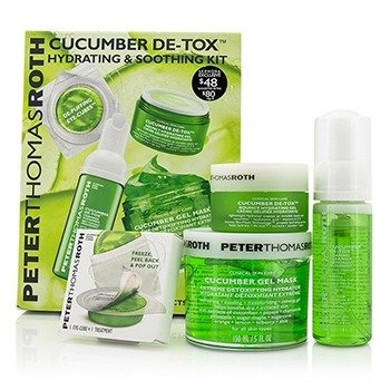 Peter Thomas Roth Kit Cucumber Detox: Mascarilla en Gel 150ml/5oz + Limpiador Espumoso 30ml/1oz + Gel Hidratante 15ml/1oz   4pcs