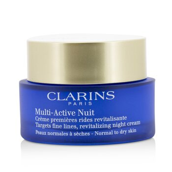 Clarins Multi-Active Night Targets Fine Lines Revitalizing Night Cream - For Normal To Dry Skin  50ml/1.7oz