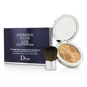 Christian Dior Diorskin Nude Air Healthy Glow Radiance Powder (With Kabuki Brush) - # 001 Fresh Tan  10g/0.35oz