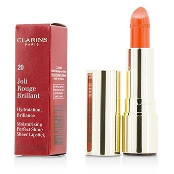 Clarins Joli Rouge Brillant (Moisturizing Perfect Shine Sheer Lipstick) - # 20 Coral Tulip  3.5g/0.1oz