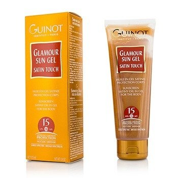 Guinot Glamour Sun Gel Sunscreen Satiny Oil In Gel SPF15 - For Body  125ml/3.8oz