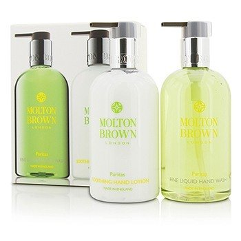 Molton Brown Set Puritas Cuidado de Manos: Jabónde Manos Líquido Fino 300ml/10oz + Loción de Manos Calmante 300ml/10oz  2pcs