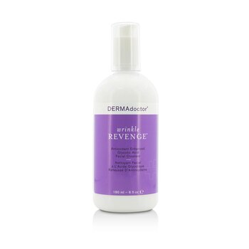 DERMAdoctor Wrinkle Revenge Antioxidant Enhanced Glycolic Acid Facial Cleanser  180ml/6oz