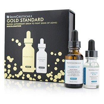 Skin Ceuticals Gold Standard Kit: Phloretin CF 30ml/1oz + Hydrating B5 Gel 15ml/0.5oz  2pcs