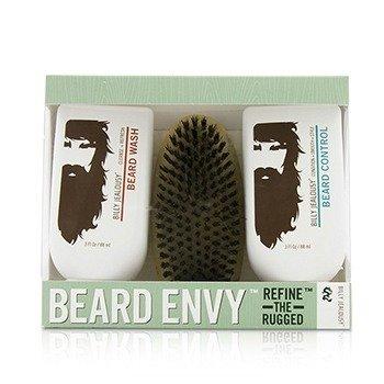 ビリージェラシー Beard Envy Kit: Beard Wash 88ml + Beard Control 88ml + brush 1pcs  3pcs