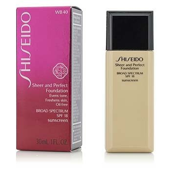 Shiseido Base Pura & Perfecta SPF 18 - # WB40 Natural Fair Warm Beige  30ml/1oz