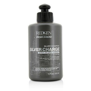 Redken Men Silver Charge Silver Shampoo (For Grey and White Hair)  300ml/10oz