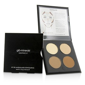 GloMinerals Contour Kit (1x Highlight, 1x Shimmer Highlight, 2x Contour) - Fair To Light  13.2g/0.46oz