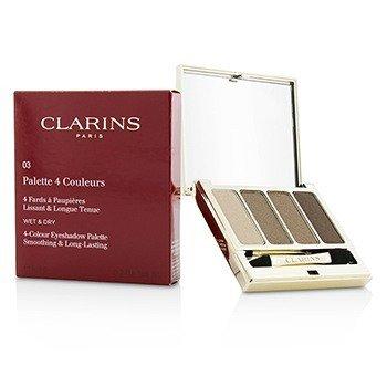 Clarins Paleta de Sombras de Ojos de 4 Colores (Suavizantes & de Larga Duración) - #03 Brown  6.9g/0.2oz