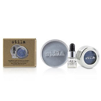 Stila Magnificent Metals Foil Finish Sombra de Ojos Con Mini Primer de Ojos Líquido - Metallic Cobalt  2pcs