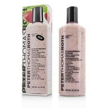Peter Thomas Roth Strawberry Scrub Fruit Enzyme Polisher - For Face & Body  250ml/8.4oz