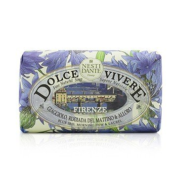 Nesti Dante Dolce Vivere Fine Natural Soap - Firenze - Blue Iris, Morning Dew & Laurel - Sabun Badan  250g/8.8oz